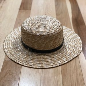 Sole Society Straw Boater Hat
